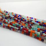 200 Beads - 4mm Firepolish - Matte Jewel Tone Mix - Czech Glass