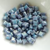 Wibeduo® (25 Beads) - Blue Turquoise Lumi - 8mm x 8mm 2-hole Czech Glass