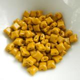 Wibeduo® (25 Beads) - Opaque Mustard - 8mm x 8mm 2-hole Czech Glass