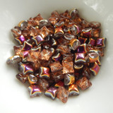 Wibeduo® (25 Beads) - Crystal Sunset - 8mm x 8mm 2-hole Czech Glass