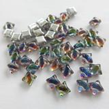 Wibeduo® (25 Beads) - Backlit Petro - 8mm x 8mm 2-hole Czech Glass