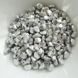 100 Beads - Pinch 5x3mm Crystal Full Labrador - Czech Glass
