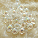 10 Beads - Candy Oval 10x12mm Crystal AB 2-Hole Czech Glass