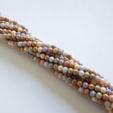 100 Beads - 4mm Druk Opaque Luster Mix Czech Glass Rounds