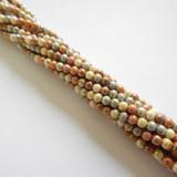 100 Beads - 4mm Druk Opaque Brown Mix Czech Glass Rounds