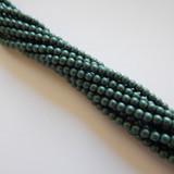 100 Beads - 4mm Druk Metallic Suede Light Green Czech Glass Rounds