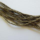 100 Beads - 2mm Firepolish Faceted - Saturated Metallic Emperador - Czech Glass