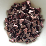 20 Beads - Helios® par Puca® Paris Metallic Matte Dark Violet - Czech Glass