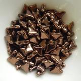 20 Beads - Helios® par Puca® Paris Dark Bronze - Czech Glass