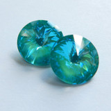 14mm 1122 Swarovski Rivoli (2 Pieces) Laguna DeLite