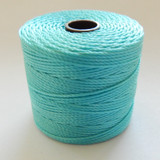Aqua - S-Lon Tex 210 Nylon bead Cord, 77 Yards, 1 Spool, Kumihimo, Macrame, Crochet, Stringing