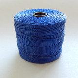 Capri Blue - S-Lon Tex 210 Nylon bead Cord, 77 Yards, 1 Spool, Kumihimo, Macrame, Crochet, Stringing