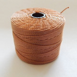 Copper - S-Lon Tex 210 Nylon bead Cord, 77 Yards, 1 Spool, Kumihimo, Macrame, Crochet, Stringing