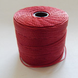 Dark Red - S-Lon Tex 210 Nylon bead Cord, 77 Yards, 1 Spool, Kumihimo, Macrame, Crochet, Stringing
