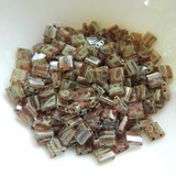 Tila 5 grams Transparent Light Smoky Topaz Picasso 2-Hole 5mm Square Miyuki Beads No. 4505