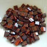Tila 5 grams Opaque Orange Picasso 2-Hole 5mm Square Miyuki Beads No. 4520