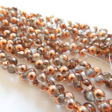 6x5mm Mushroom (50 beads) - Crystal Capri Gold - Czech Glass