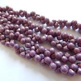 6x5mm Mushroom (50 beads) - Chalk Vega Luster - Czech Glass