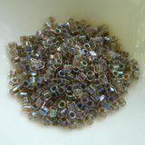 8/o Hex Cut Delica 5grams Ivory Lined AB Miyuki Glass Seed Beads No. 064