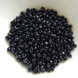 3.4mm Drop Beads Miyuki - Jet Black - 10 Grams No. 401