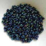 3.4mm Drop Beads Miyuki - Dark Blue Iris - 10 Grams No. 452