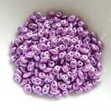 10 grams - Superduo Pastel Lilac - Czech Glass by Matubo