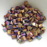 Tila 5 grams Metallic Purple Gold Iris 2-Hole 5mm Square Miyuki Beads No. 188