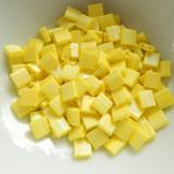 Tila 5 grams Matte Opaque Yellow AB 2-Hole 5mm Square Miyuki Beads No. 404fr