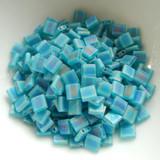 Tila 5 grams Matte Transparent Teal AB 2-Hole 5mm Square Miyuki Beads No. 2405fr