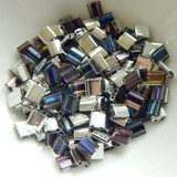 Tila 5 grams Crystal Helio 2-Hole 5mm Square Miyuki Beads No. 4554