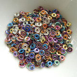 O Bead® 5 grams - Crystal Gold, Pink, Blue - Czech Glass Beads