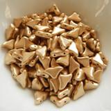 20 Beads - Helios® par Puca® Paris - Light Gold Matte - Czech Glass