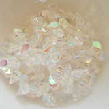 30 Beads - 5x8mm Amos® par Puca® Two Hole Drop Shape Crystal AB