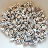 KOS® PAR PUCA® (50 Beads) - Argentees Silver - 6x3mm 2-hole
