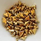 20 Beads - Helios® par Puca® Paris - Full Dorado - Czech Glass