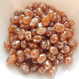 Samos® par Puca® (20 beads) 2-Hole 7x5mm Oval - Light Rose Opal New Picasso