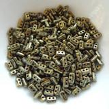 5 grams - Piros® par Puca® Paris - Metallic Matte Old Gold Spotted - Czech Glass