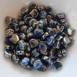 Ginko (35 Beads) - Sapphire Rembrandt - 7.5mm x 7.5mm 2-hole Czech Glass by Matubo