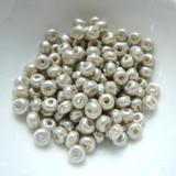 30 Beads - 5/o Glass Seed Beads Baroque Pearl Silver - Miyuki No. 956
