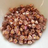 100 Beads - 4x6mm Bell Flower - Crystal Sunset - Czech Glass
