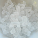 12 Beads - Telos® par Puca® Paris - Crystal Matte - Czech Glass