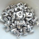 12 Beads - Telos® par Puca® Paris - Argentees Silver - Czech Glass