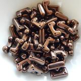 12 Beads - Telos® par Puca® Paris - Dark Bronze - Czech Glass