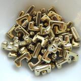 12 Beads - Telos® par Puca® Paris - Full Dorado - Czech Glass