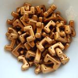 12 Beads - Telos® par Puca® Paris - Bronze Gold Matte - Czech Glass