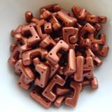 12 Beads - Telos® par Puca® Paris - Bronze Red Matte - Czech Glass