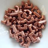 12 Beads - Telos® par Puca® Paris - Copper Gold Matte - Czech Glass