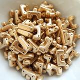 12 Beads - Telos® par Puca® Paris - Light Gold Matte - Czech Glass