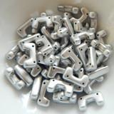 12 Beads - Telos® par Puca® Paris - Aluminum Silver Matte - Czech Glass