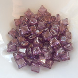 Wibeduo® (25 Beads) - Crystal Lilac Vega Luster - 8mm x 8mm 2-hole Czech Glass
